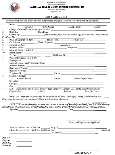 ntc application for permit to purchase