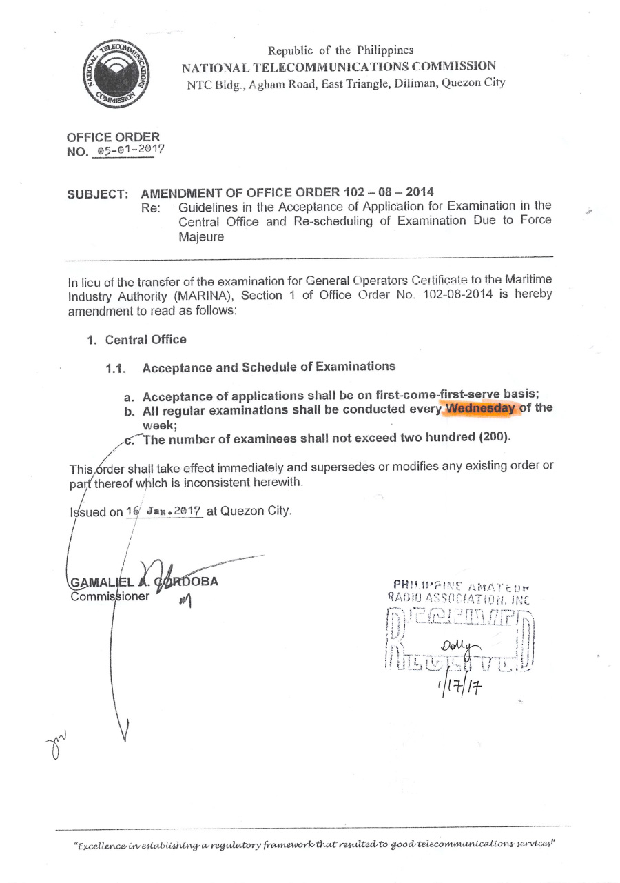 amendment of office order 102 08 2014 rh para org ph 13 Amendment 15 Amendment